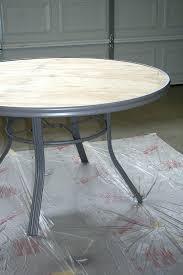 concrete top outdoor table diy patio table 7 seal the concrete diy concrete patio table top