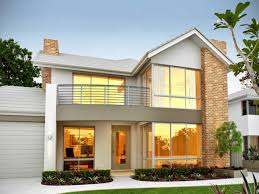 Two Story Home Designs Lovely Two Story Home Design With White Concrete Wall Part Of