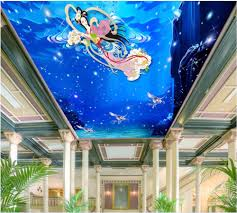 compare prices on fairy wall murals online shopping buy low price 3d wallpaper custom photo mural the night sky fairy unicorn ceiling room decoration painting 3d wall