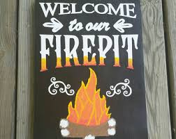 Firepit Signs Items Similar To Free Shipping Personalized Pit Sign