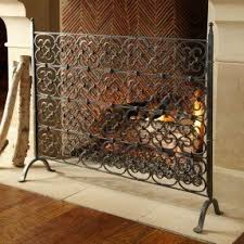 decorative fireplace screens wrought iron foter