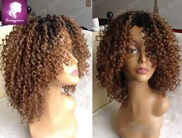 short curly bob wig ombre color short kinky curly bob wig peruvian hair lace front wigs