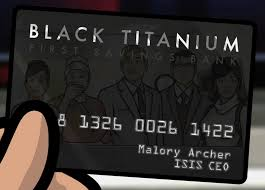 black titanium black titanium credit card archer wiki fandom powered by