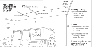 4 door jeep drawing how to install a harken hoister garage storage 4 point lift system