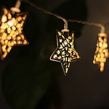 led fairy lights battery operated foxpic warm white golden metal star 10 led fairy string lights