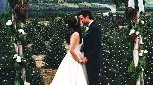 wedding backdrop tree picture of fantastic winter wedding backdrop of christmas trees