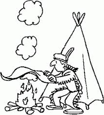free thanksgiving indian coloring pages coloring home