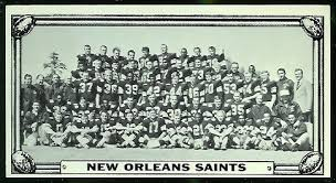 new orleans saints team 1968 topps test team photos 2 vintage