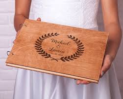 engravable wedding guest book rustic guest book wedding guestbook custom engraved wooden