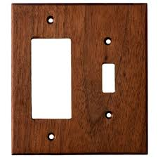 gfci outlet with light switch black walnut wood wall plates 2 gang combo light switch gfci