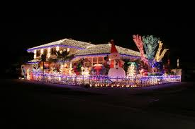 Decorated Homes Christmas Decorated Homes Crazy Outdoor Christmas Lights At