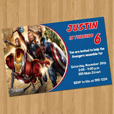 party invitations surprising avengers party invitations design