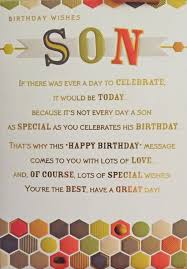 son birthday card birthday wishes son alexander u0027s amazon co
