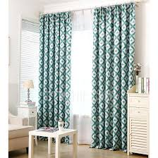 Geometric Pattern Curtains Casual Geometric Pattern Green Polyester Simple Curtains