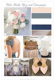 Color Palette Gray Color Palette A Nautical Blush Navy Slate And Champagne