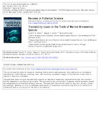 traceability issues in the trade of marine ornamental species pdf