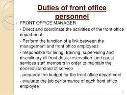 Front Desk Hotel Responsibilities Hotel Front Desk Manager Job Description 14100484 Hotel Front