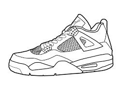 drawing jordans shoes coloring pages triston pinterest