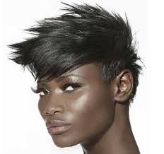 short hairstyles for black women spiked on top small curls in back and sides of hair how to match the right hairstyles and colors