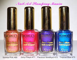 nail art stamping mania kiko sun show nail lacquer review and