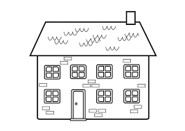 casa disegno disegno da colorare casa cat 23129