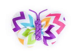 ribbon hair clip rainbow chevron butterfly ribbon hair clip ribbies hair accessories