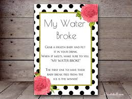 my water baby shower my water printabell create