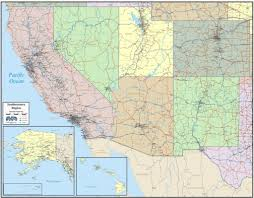 map usa southwest wall map of southwest states south west states market sales map