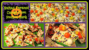 halloween recipe salted caramel candy corn pretzel bark no bake