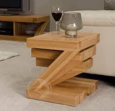 Modern Oak Furniture Z Shape Solid Oak Nest Of Tables Oak Furniture Uk