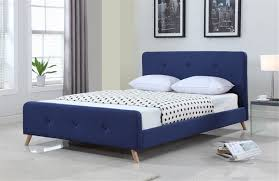 Buy Bed Frame Scandinavian Bed Frame Regarding Buy Modern Size Fabric Blue