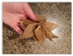 how to make burlap poinsettia ornaments hometalk