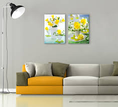 Yellow And Gray Wall Decor by Daffodils Photography 2 Piece Wall Decor
