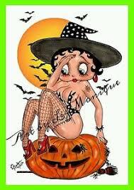 betty boop halloween witch digital pinup erotic adult cartoon 4x6