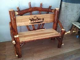 Log Outdoor Furniture by Rustic Sassafras Log Furniture