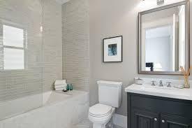 Bathroom With Black Walls Gray Subway Tile Bathroom Black And Gray Bathroom With Black