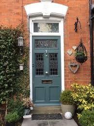 farrow and ball inchyra blue on our beautiful front door this is