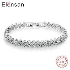 bracelet silver tennis images Elensan roman bracelets bangles women 39 s platinum plated real s925 jpg