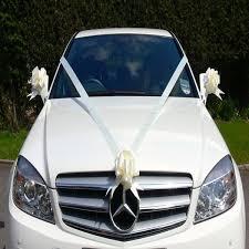 car ribbon ivory wedding car ribbon kit with 3 ready assembled pull bows