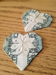 how to make an origami heart from a dollar recipe origami