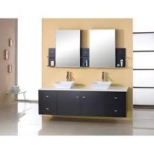 espresso double sink bathroom vanity set city gate beach road