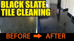 Best Way To Clean A Slate Floor by Cleaning Black Slate Tiles In Portsmouth Youtube