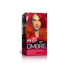temporary hair color for halloween splat fire ombre semi permanent hair dye for all hair colors