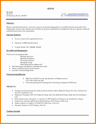 mba application resume format mba application resume exles exles of resumes