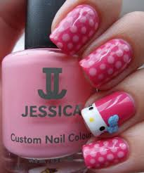 picture 8 of 10 hello kitty nail art designs tutorial photo