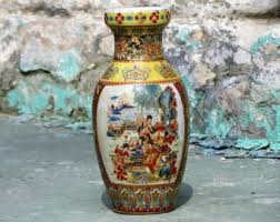 Old Vases Prices Hand Painted Vase Etsy