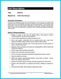 Barista Job Description Resume by Awesome Successful Objectives In Chemical Engineering Resume