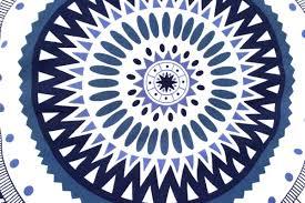serviette de bain bio serviette de plage ronde mandala bleu tendances du monde