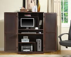 Corner Computer Armoire Computer Armoire For Inspiring Office Furniture Design Within