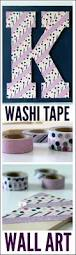 Washi Tape Wall by Washi Tape Monogram Wall Art Catch My Party